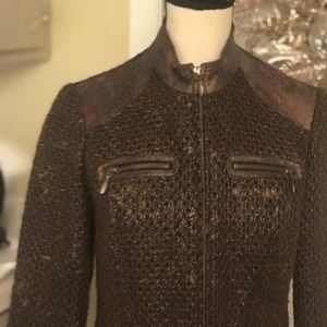 Chico's bronze brown jacket size 0 or small
